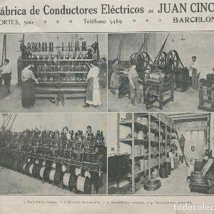 1915 fábrica de conductores eléctricos Juan Cinca 18,5x15,2 cm