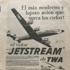 Coleccionismo: 1957 PUBLICIDAD TWA 13,5X18,7 CM. Lote 151954674
