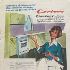 Coleccionismo: 1961 PUBLICIDAD CORBERÓ 13,5X18,7 CM. Lote 151954822