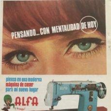 Coleccionismo: 1966 PUBLICIDAD ALFA 13,5X18,7 CM. Lote 151954986
