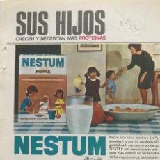 Coleccionismo: 1966 PUBLICIDAD NESTLÉ 13,5X18,7 CM. Lote 151955114