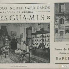 Coleccionismo: 1966 PUBLICIDAD CALZADOS. CASA GUAMIS 22,2X14,4 CM. Lote 151955378