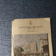 Coleccionismo: LICEO.. PROGRAMA 1948. Lote 151957381