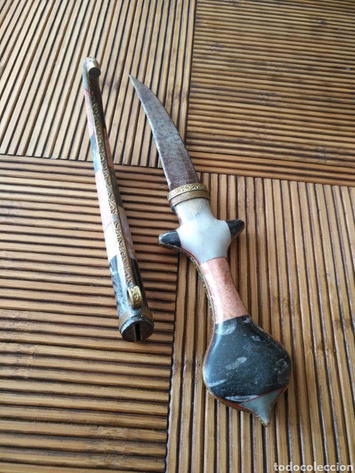 Coleccionismo: Cuchillo Gumia turca con funda y mango de piedras duras siglo XVIII - Foto 5 - 151958705