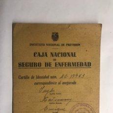 Coleccionismo: CARLET (VALENCIA) CAJA NACIONAL DE SEGURO DE ENFERMEDAD (A.1944). Lote 152062784