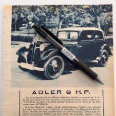 Coleccionismo: ADLER 8 HP / SEVILLA FERIA DE ABRIL. 1934. Lote 152259114