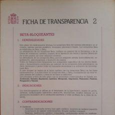 Coleccionismo: MINISTERIO DE SANIDAD Y CONSUMO TABLA FICHAS DE TRANSFERENCIA DESPLEGABLE. Lote 152532040
