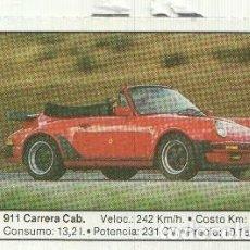 Coleccionismo: CROMO NUMERO 134: PORSCHE 911 CARRERA CABRIO. Lote 152630633
