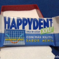 Coleccionismo: CHICLE ( HAPPYDENT XYLIT CHICLE SIN AZUCAR ) ANTIGUO SIN ABRIR. Lote 152692498