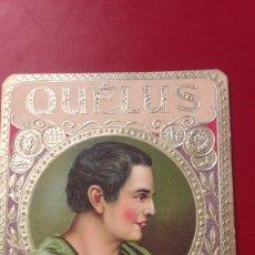 Coleccionismo: ETIQUETA CARTEL PUROS QUELUS. Lote 152932045