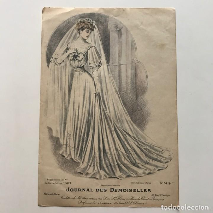 1906 Antigua lámina moda 19,7x28,6 cm - 153041462
