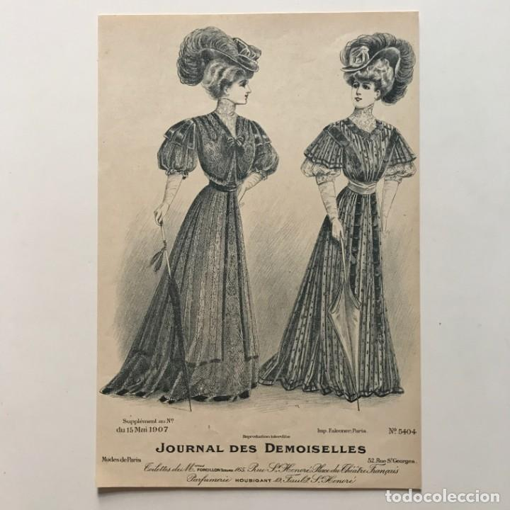 Coleccionismo: 1907 Antigua lámina moda 18,4x27 cm - Foto 2 - 153048430