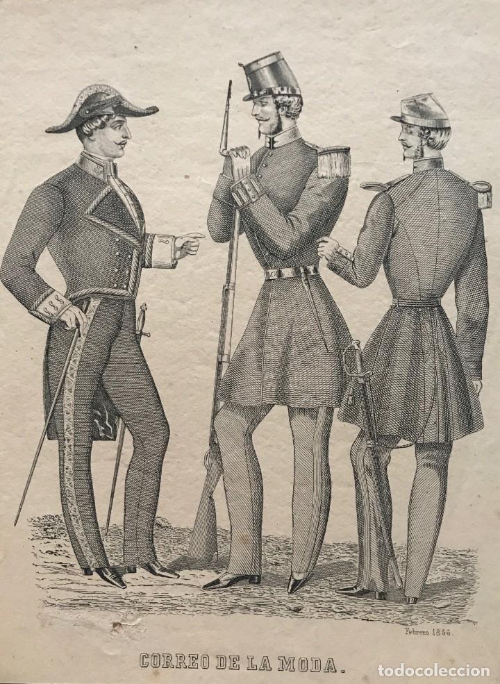 1856 ANTIGUA LÁMINA MODA 17,9X24 CM (Coleccionismo - Laminas, Programas y Otros Documentos)