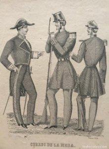 1856 Antigua lámina moda 17,9x24 cm