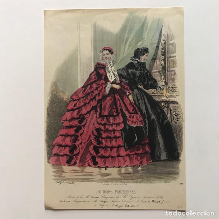 Coleccionismo: Antigua lámina moda 18,4x26,4 cm - Foto 2 - 153049466