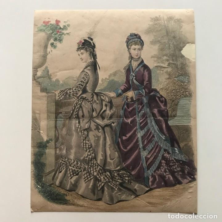 Coleccionismo: Antigua lámina moda 22x27,4 cm - Foto 2 - 153053206