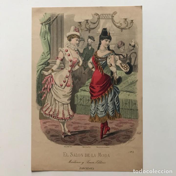 Coleccionismo: Antigua lámina moda 19,1x28,2 cm - Foto 2 - 153053950