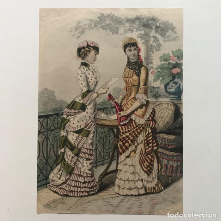 Coleccionismo: Antigua lámina moda 19x27 cm - Foto 2 - 153054566