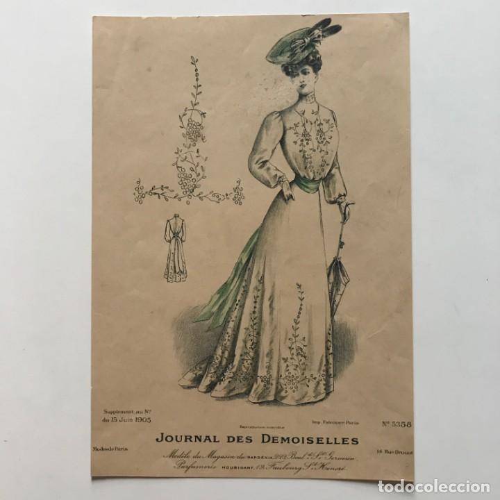 Coleccionismo: Antigua lámina moda 18,5x26,9 cm - Foto 2 - 153055714