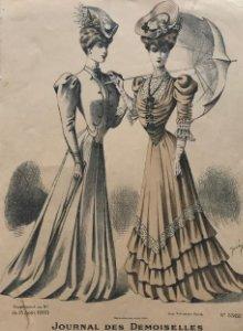 1905 Antigua lámina moda 18,9x28,1 cm