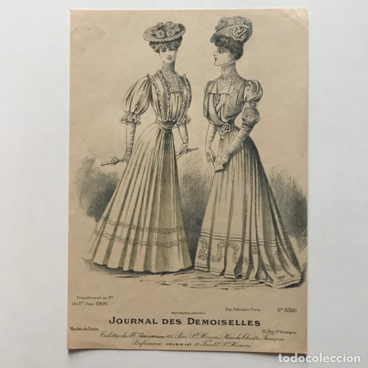 1906 Antigua lámina moda 18,6x26,6 cm - 153056262