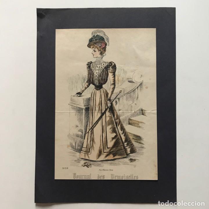 Coleccionismo: Antigua lámina moda 21,7x32,5 cm - Foto 2 - 153057390