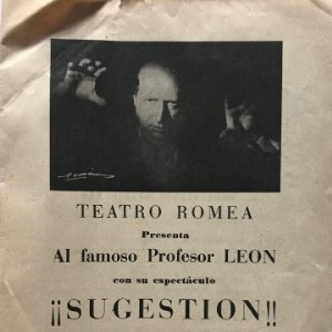 1954 Teatro Romea. Sugestion 16x22,4 cm