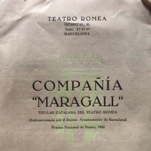 1956-57 Teatro Romea. Compañía Maragall 17,5x23,9 cm