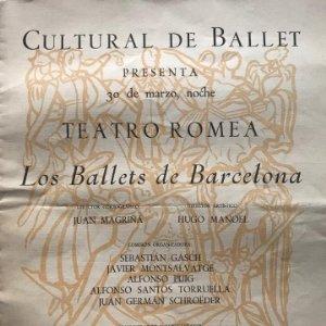 1950 Teatro Romea. Los Ballets de Barcelona 21,4x27,5 cm