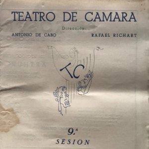 1951 Teatro Romea. Teatro de Camara 21,9x27,5 cm
