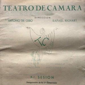 1950 Teatro Romea. Teatro de Camara 21,9x27,5 cm