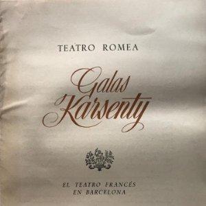 1953 Teatro Romea. Galas Karsenty 20,7x26,5 cm