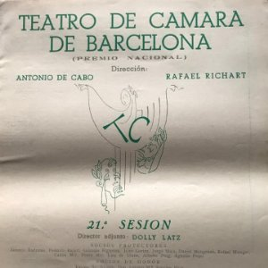 1952 Teatro Romea. Teatro de camara de Barcelona 21,5x27,9 cm