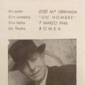1946 Teatro Romea. Jose Mª Granada. Un hombre 7,2x11,5 cm