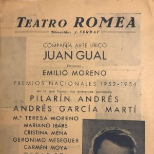 1955 Teatro Romea. La guerra santa 16,2x22,3 cm