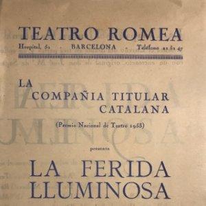 1953 Teatro Romea. La ferida lluminosa 13,8x21,9 cm