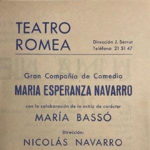 1954 Teatro Romea. Luna llena para todos 12,3x17,3 cm