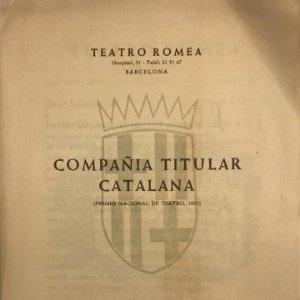 1953 Teatro Romea. Compañía titular catalana 17,3x24,2 cm
