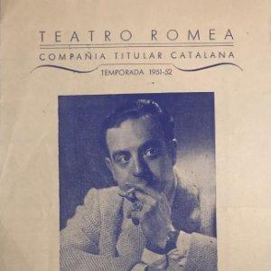 Teatro Romea. Programa de mano. Maria Rosa 13,8x21,9 cm