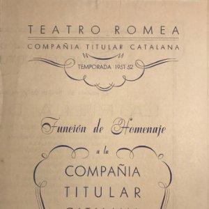 Teatro Romea. Programa de mano. La filla del Carmesí 13,8x19,6 cm
