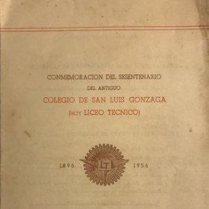 1956 Teatro Romea. Programa invitación. Colegio de San Luis Gonzaga 13,9x21,9 cm