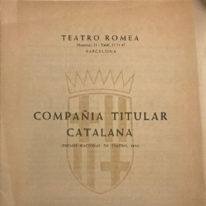 1955 Teatro Romea. Programa de mano. compañía titular catalana 17x24 cm