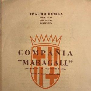 Teatro Romea. Programa de mano. Compañía Maragall. Jo seré el seu gendre! 17,4x24,1 cm