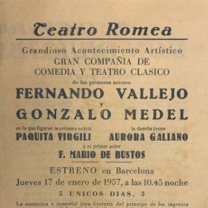 Teatro Romea. Programa de mano. El ingenioso hidalgo Don Quijote de la Mancha 13,9x21,8 cm