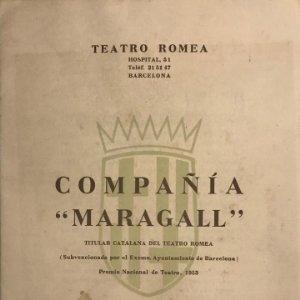 1957 Teatro Romea. Programa de mano. Compañía Maragall. Ella és...Ella 17,3x24,2 cm