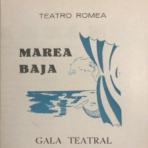 1954 Teatro Romea. Programa de mano. Marea baja 12,5x17,5cm