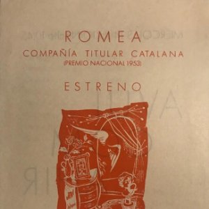 1954 Teatro Romea. Programa de mano. Avui com ahir 13,7x21,6 cm