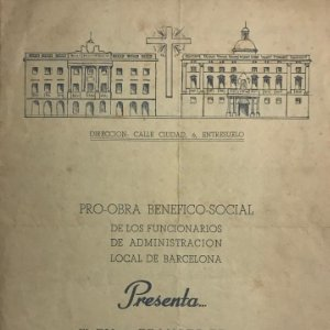 1954 Teatro Romea. Programa de mano. El divino impaciente 15,8x21,5 cm