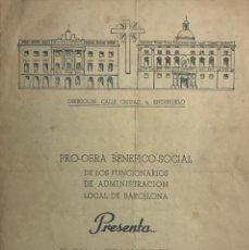 Coleccionismo: 1954 TEATRO ROMEA. PROGRAMA DE MANO. EL DIVINO IMPACIENTE 15,8X21,5 CM. Lote 153201266