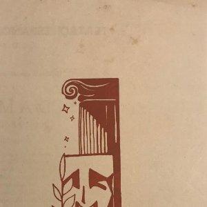 1955 Teatro Romea. Programa de mano. La dama boba 10,6x19 cm